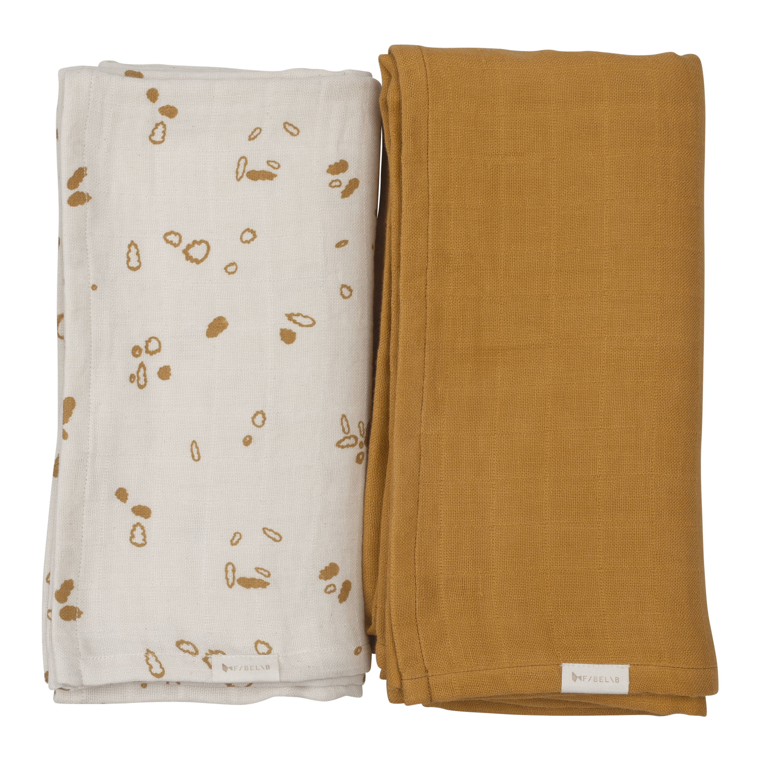 Swaddle- Printed and solid pack- Autmun Mist