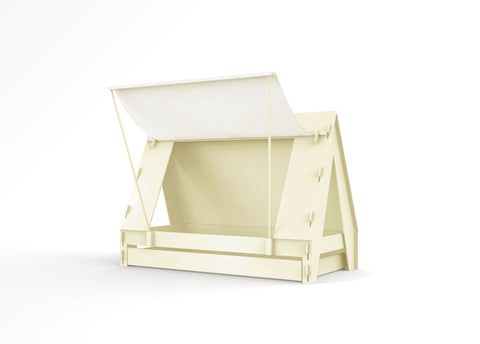 Tent bed with pull out drawer