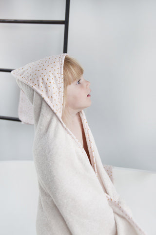 Hooded towel + washcloth - Moonstone