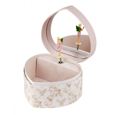 LARGE HEART MUSIC BOX FLOWER FAIRIES - JASMINE