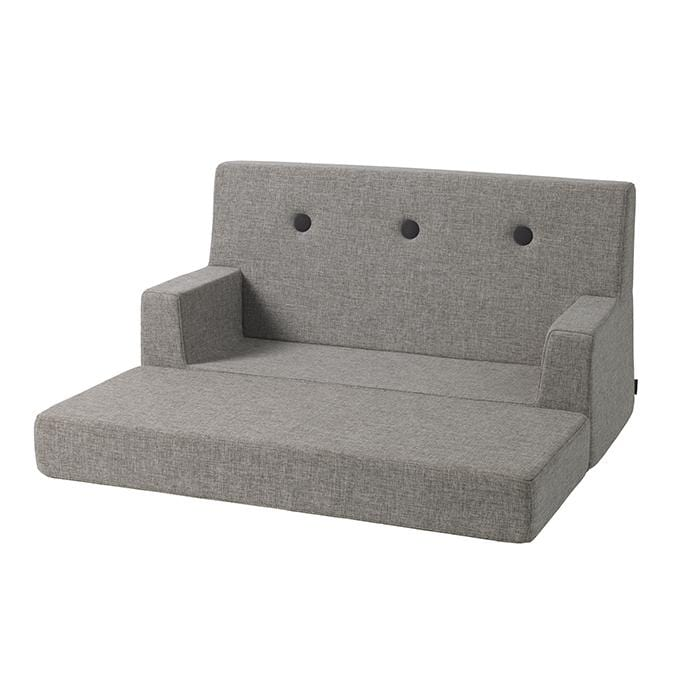 MULTI GREY W. GREY BUTTONS KIDS SOFA