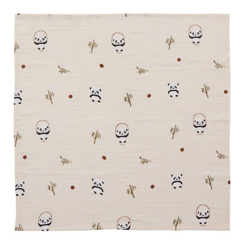 Muslin Square - Panda - 3 Pcs/Pack