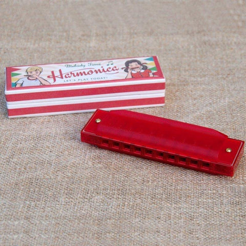 RED HARMONICA IN BOX