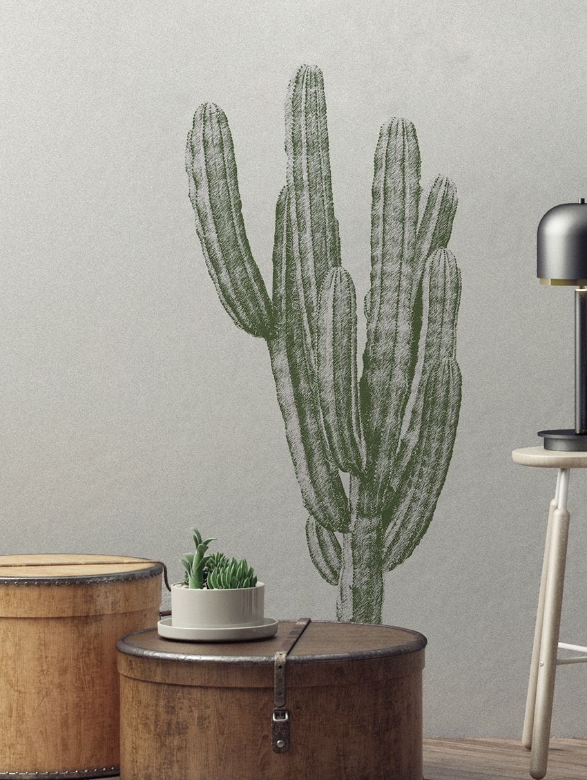 FINGER CACTUS WALL STICKER