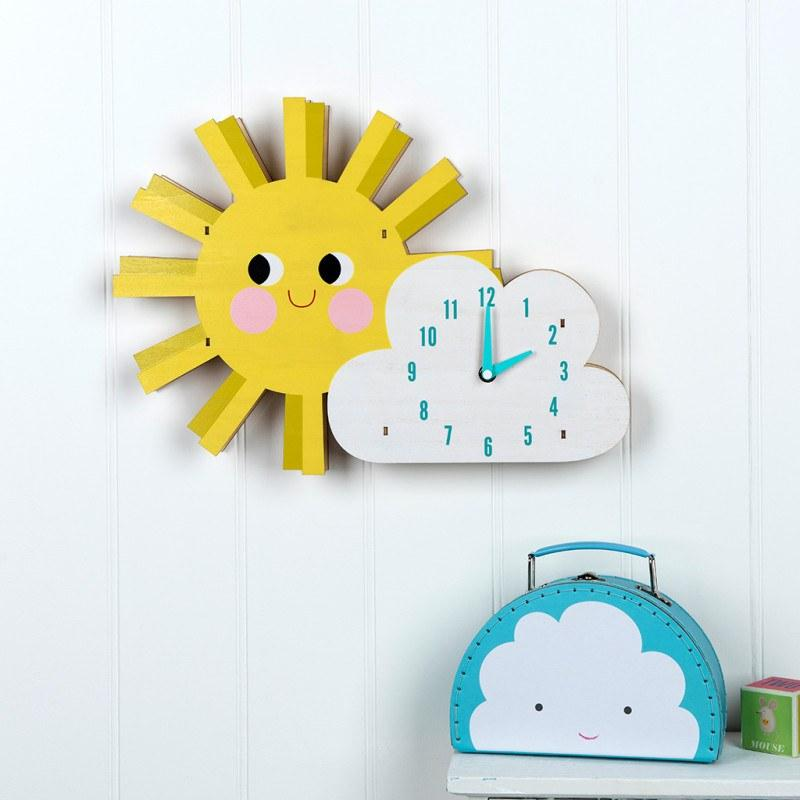 Hello Sunshine Wooden Wall Clock