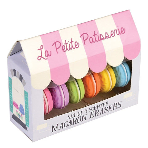 Scented macaron erasers(set of 6)