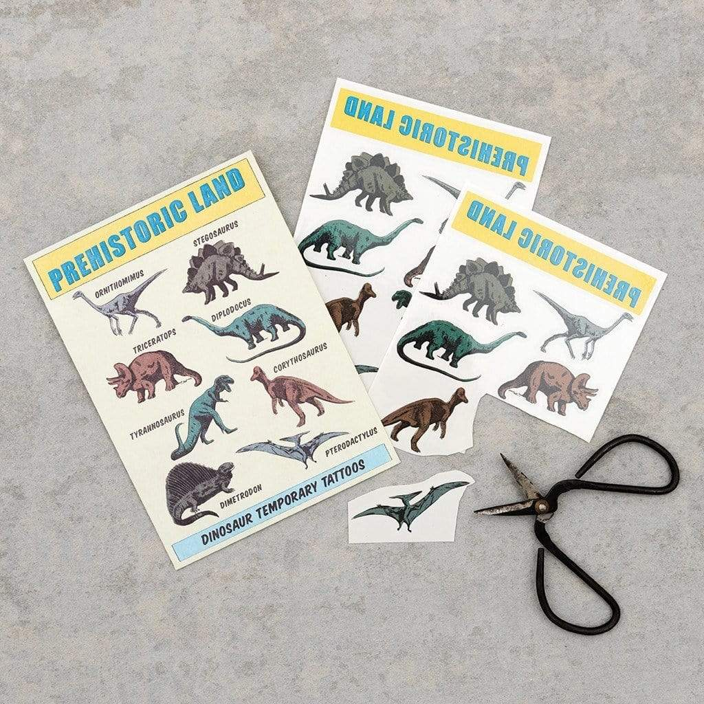 PREHISTORIC LAND TEMPORARY TATTOOS