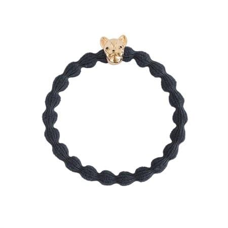 Bulldog Hair Tie, Dark grey