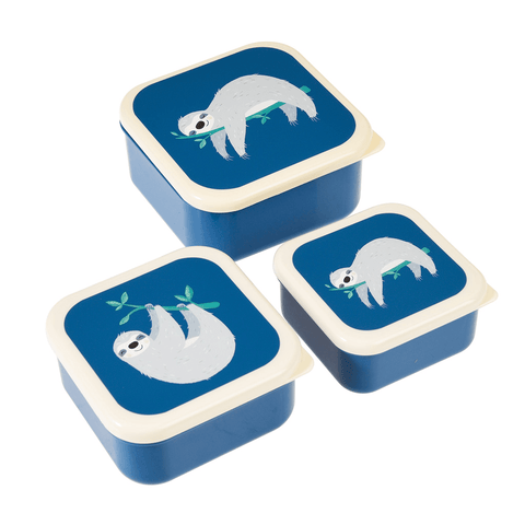Sydney Thew Sloth Snack Boxes (set Of 3)