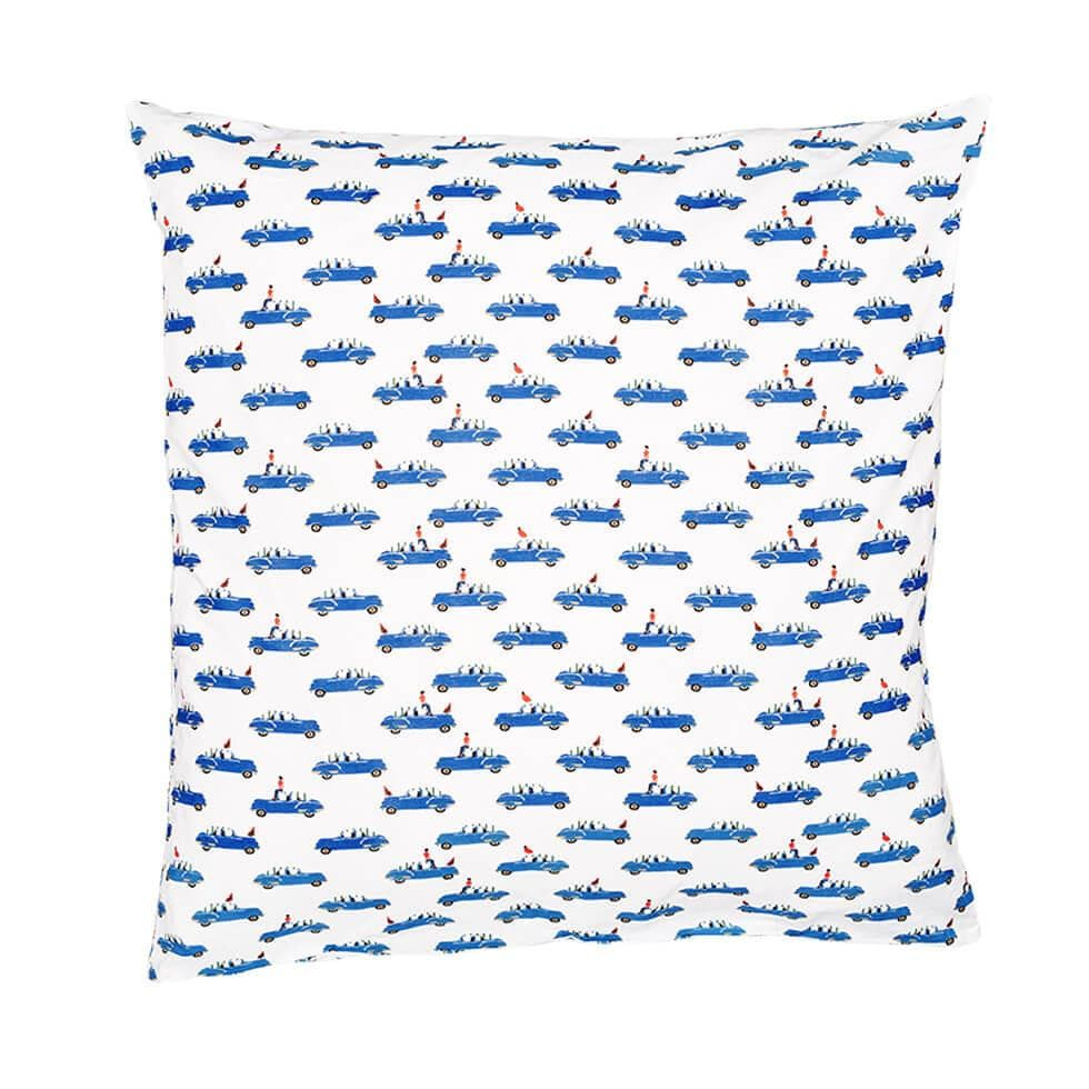 Duvet Cover and Pillow Case Set - Blue Car