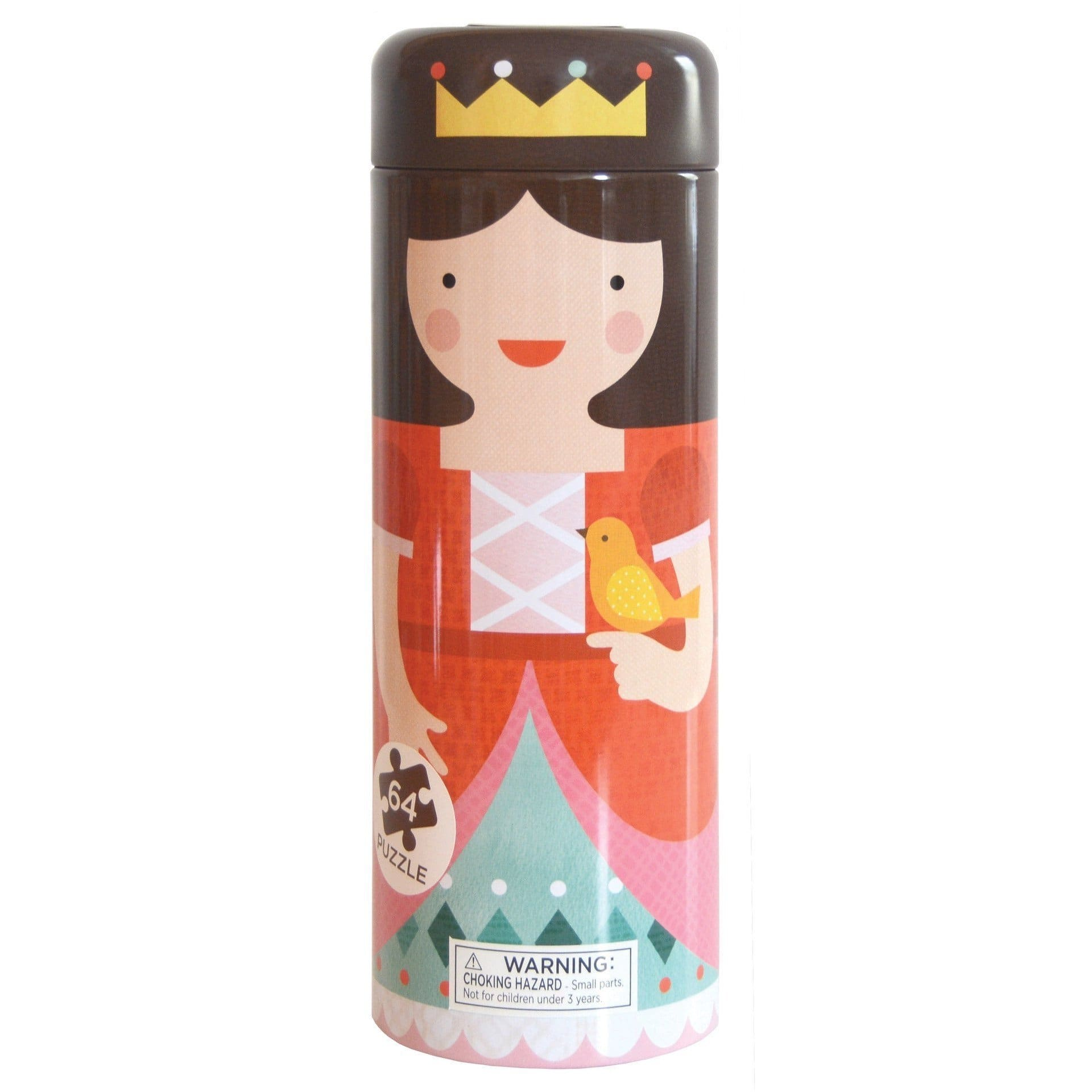 TIN CANISTER 64 PIECE ROYAL CASTLE PUZZLE