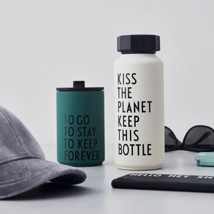 Kiss The Planet Keep This Bottle - White