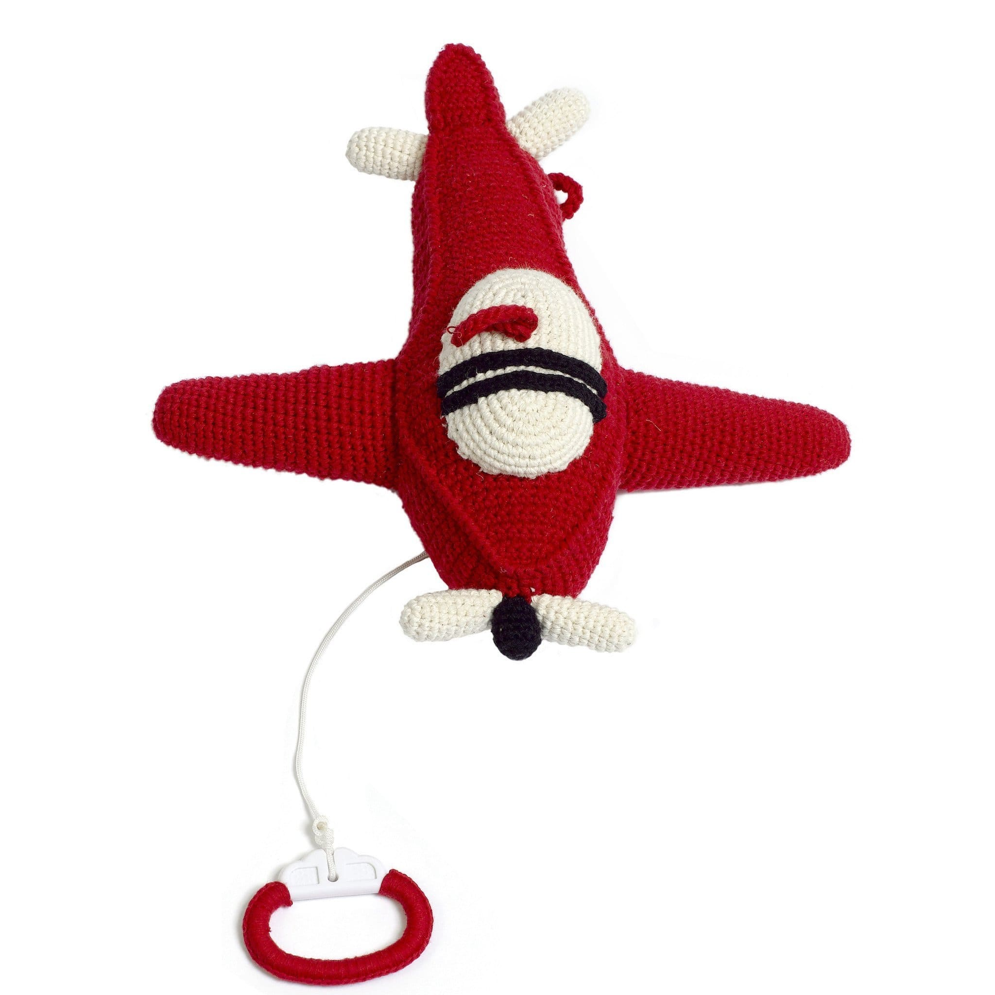 ORGANIC COTTON HANDMADE CROCHET AIRPLANE MUSIC BOX