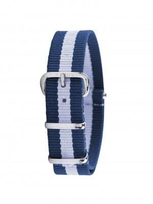 MILLOW CIEL STRIPE BLUE STRAP WATCH