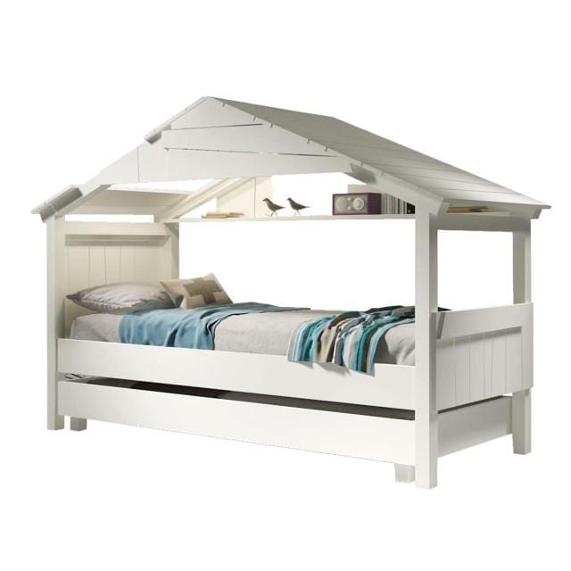 Star treehouse bed with pull out drawer