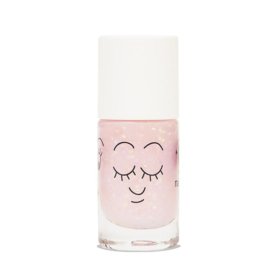 Nail polish for kids - Polly - clear pink glitter