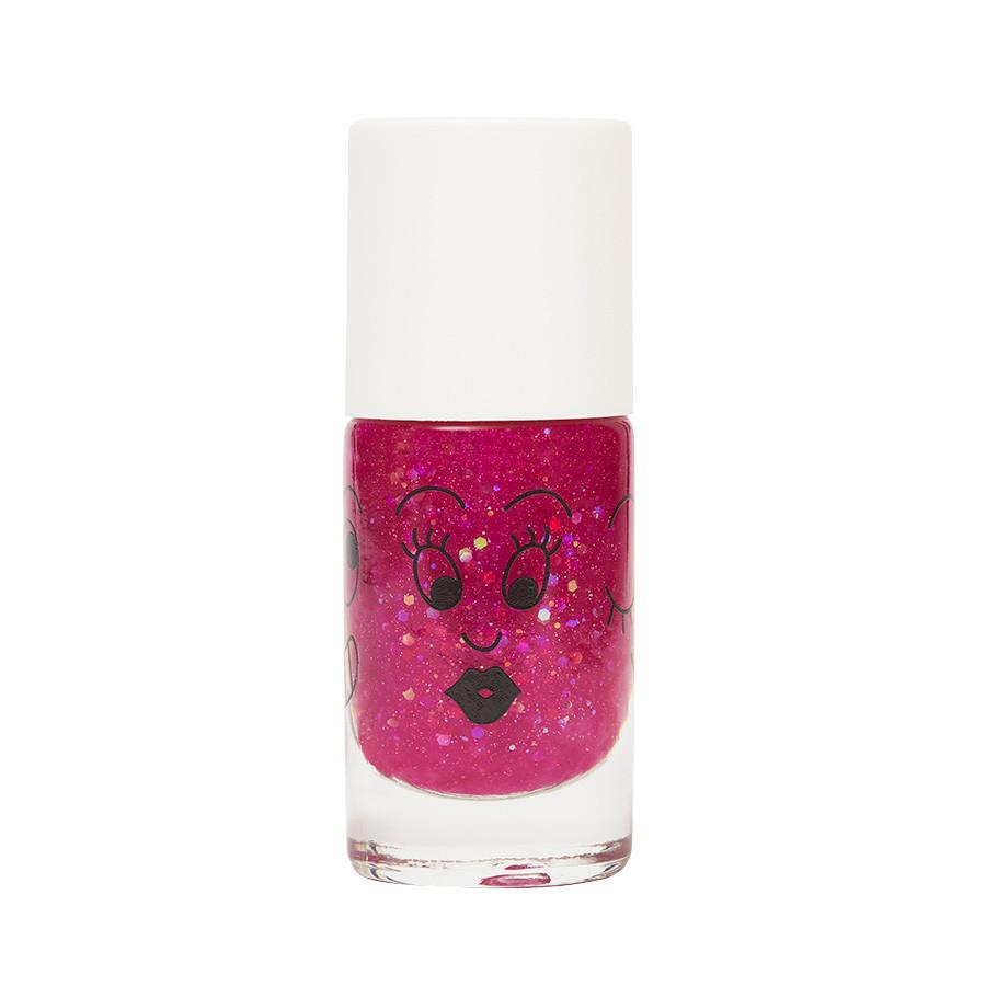 Nail polish for kids - Sheepy - clear raspberry glitter