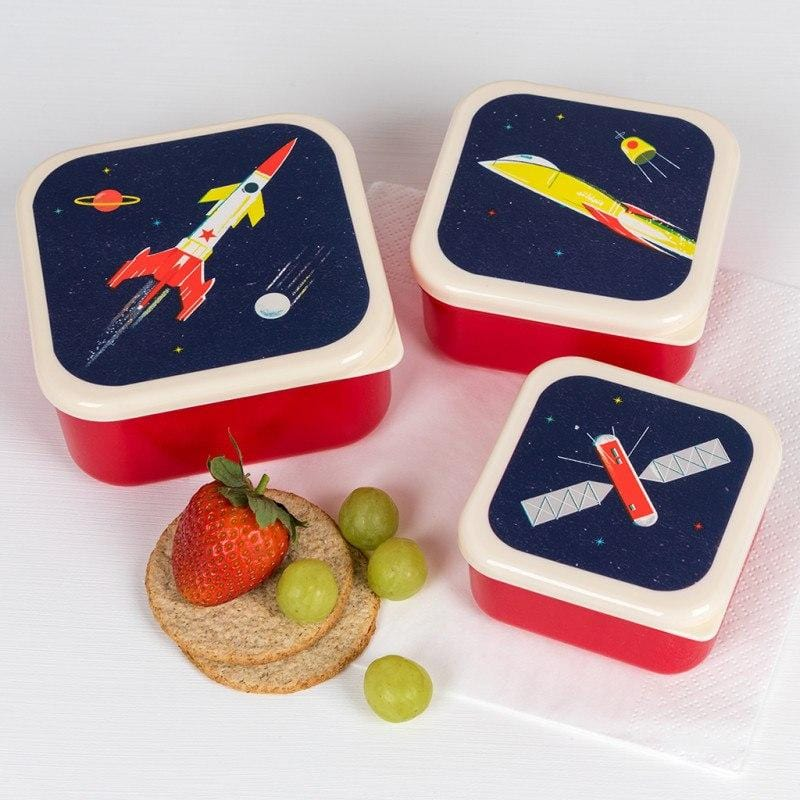 Space Age Snack Boxes (set Of 3)