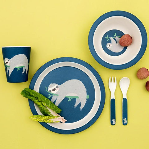 SYDNEY THE SLOTH BAMBOO TABLEWARE SET