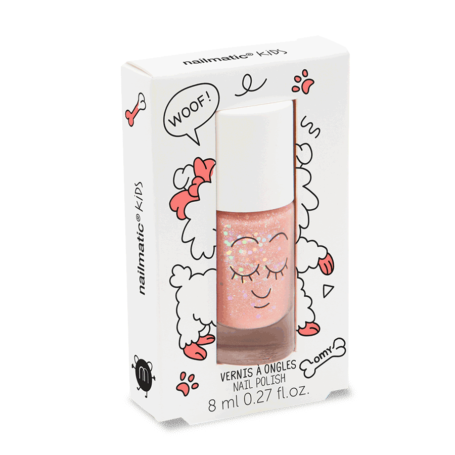 Nail polish for kids - Peachy – Peach glitter