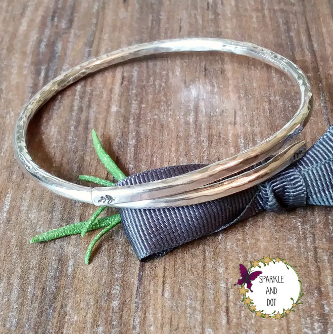Hand Stamped Metal Bracelets | Breastfeeding Reminder