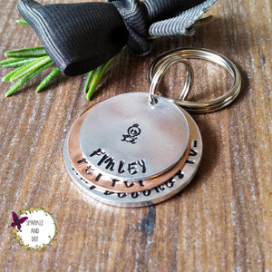 Mixed Metal Belongs To Keyring | Sparkle & Dot Hand Stamped