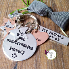 Keyring Milestone Breastfeeding Custom