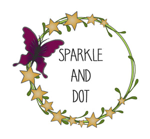 Sparkle & Dot Hand Stamped Designs