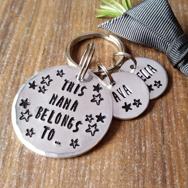 Personalised Belongs To Stars Keyring | Mother's Day | Gifts for Dad-Keyring-Sparkle & Dot Designs
