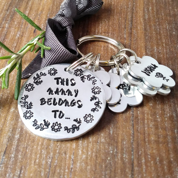 This Nanny Belongs To Personalised Daisy Keyring-Keyring-Sparkle & Dot Designs