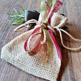 Hessian Gift Bag Sparkle & Dot