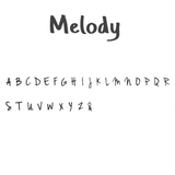 Melody Font Personalised Pocket Message Tokens Sparkle & Dot Hand Stamped