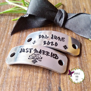 Bridal Flat Shoe Personalised Sneaker Trainer Lace Tags-Trainer Tags-Sparkle & Dot Designs