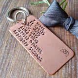 Copper 7 Year Anniversary Countdown Keyring-Keyring-Sparkle & Dot Designs