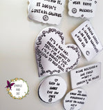 Personalised Hand Stamped Fridge Magnets - sparkle-dot-designs