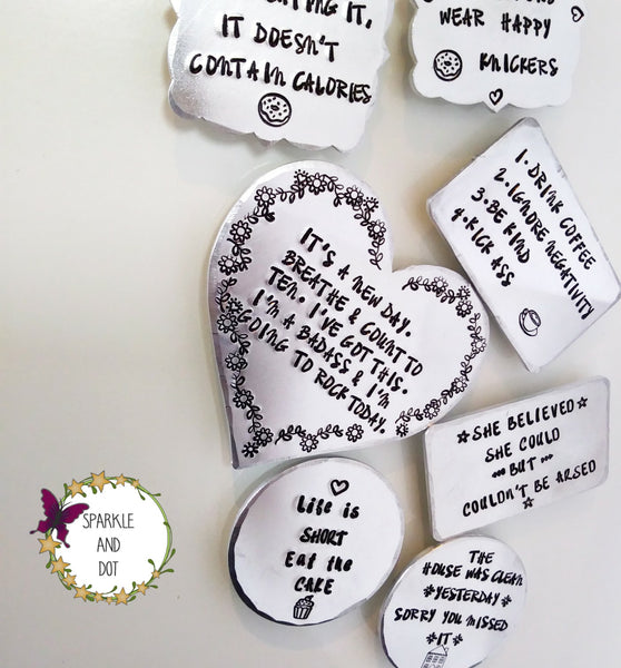 Personalised Hand Stamped Fridge Magnets-Magnets-Sparkle & Dot Designs