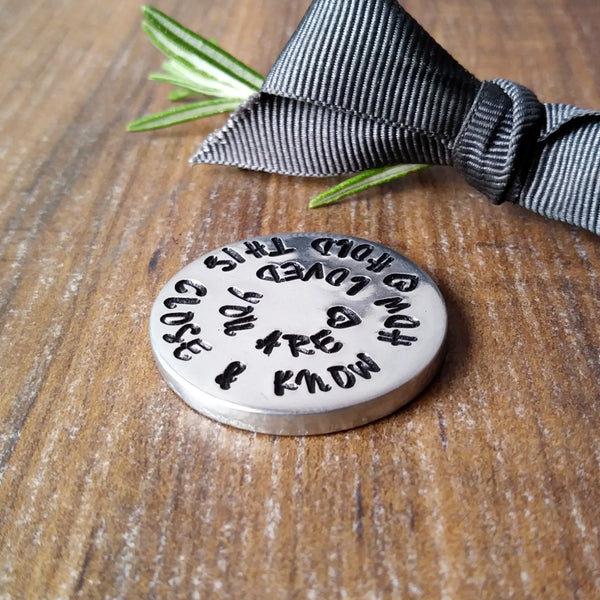 Worry Pocket Token | Personalised Message | Remember You Are Loved-Pocket Tokens-Sparkle & Dot Designs