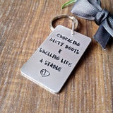 Horse Pony Lover Hand Stamped Keyring Gift - Sparkle & Dot Designs