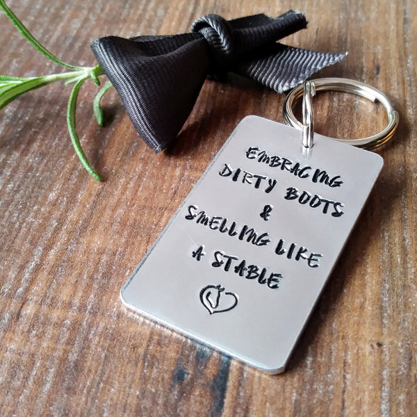 Horse Equestrian Quote Keyring-Keyring-Sparkle & Dot Designs