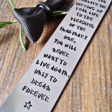 Personalised Hand Stamped Metal Bookmark, - sparkle-dot-designs