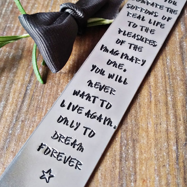 Personalised Hand Stamped Metal Bookmark-Bookmark-Sparkle & Dot Designs