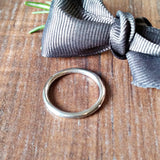 Smooth Skinny Silver Stacker Rings - Sparkle & Dot Designs