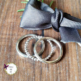 Skinny Sterling Silver Stacking Rings-Full Ring-Sparkle & Dot Designs