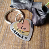 I Am Enough Mixed Metal Keyring-Keyring-Sparkle & Dot Designs