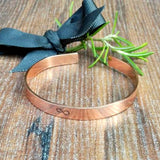 Hand Stamped Copper Anniversary Infinity Bracelet For Him And Her - sparkle-dot-designs