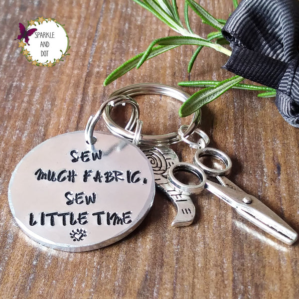 Personalised Sewing Keyring-Keyring-Sparkle & Dot Designs