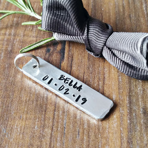 Name Date Extra Tag For Miscarriage & Baby Child Loss Remembrance Keyring-Keyring-Sparkle & Dot Designs