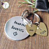 Golden Booby Personalised Breastfeeding One Year Milestone Keyring-Keyring-Sparkle & Dot Designs