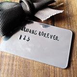 FONTS Personalised Money Clip - Sparkle & Dot Hand Stamped