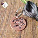 Single Copper Hand Stamped Dog ID Pet Tags Personalised-Dog Tag-Sparkle & Dot Designs